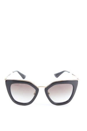 Prada Butterfly Brille schwarz-goldfarben Casual-Look