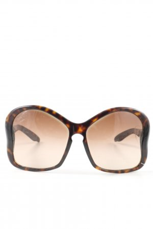 Prada Butterfly Glasses brown-black allover print casual look