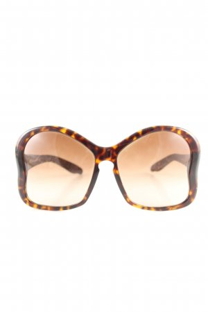 Prada Butterfly Brille hellorange-braun Leomuster Casual-Look