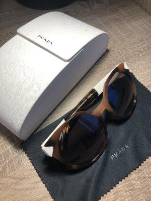 Prada Ovale zonnebril zwart-brons