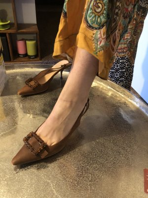Prada Pointed Toe Pumps brown