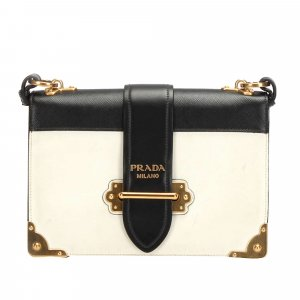 Prada Crossbody bag white leather