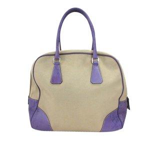 Prada Canapa Bauletto Canvas Handbag