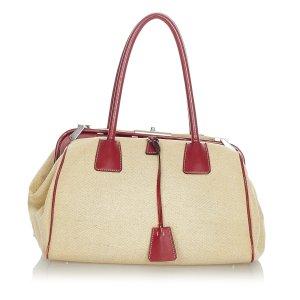 Prada Canapa Bauletto Handbag
