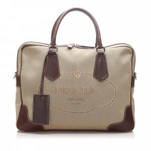 Prada Canapa Canvas Business Bag