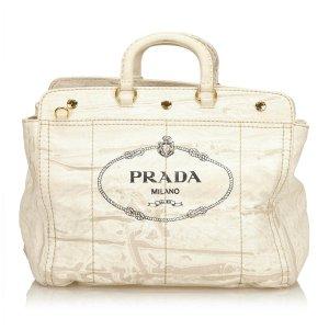 Prada Canapa Canvas Handbag