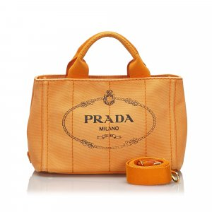 Prada Canapa Canvas Satchel