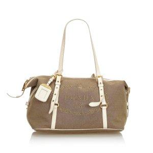 Prada Canapa Canvas Shoulder Bag