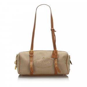Prada Canapa Canvas Shoulder