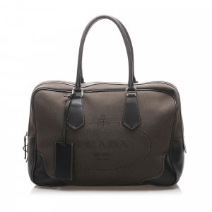 Prada Travel Bag dark brown