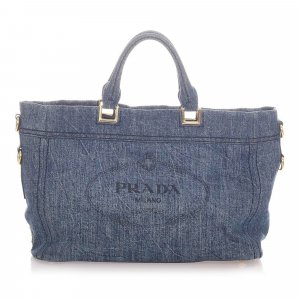 Prada Satchel blue cotton
