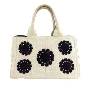 Prada Canapa Floral Tote Bag