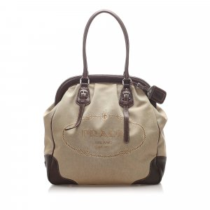 Prada Canapa Frame Shoulder Bag