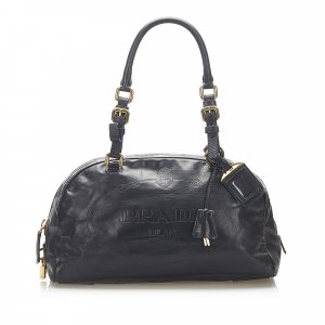 Prada Canapa Leather Shoulder Bag