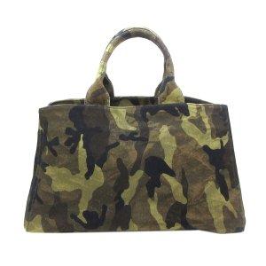Prada Canapa Logo Camouflage Canvas Tote Bag