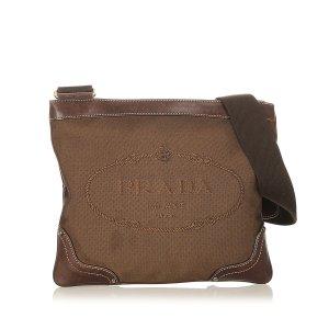 Prada Crossbody bag dark brown