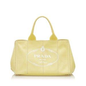 Prada Canapa Logo Canvas Handbag