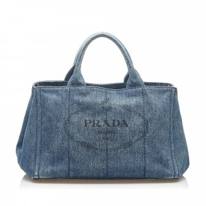 Prada Satchel blue cotton