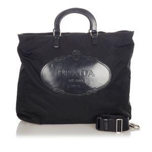 Prada Canapa Logo Tessuto Tote Bag
