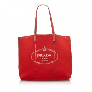 Prada Tote red polyester