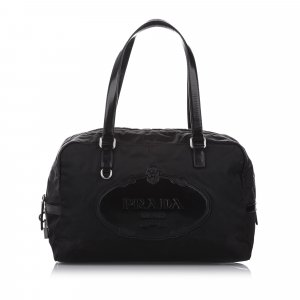 Prada Canapa Nylon Shoulder Bag