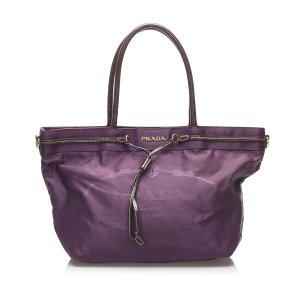 Prada Sac fourre-tout violet nylon