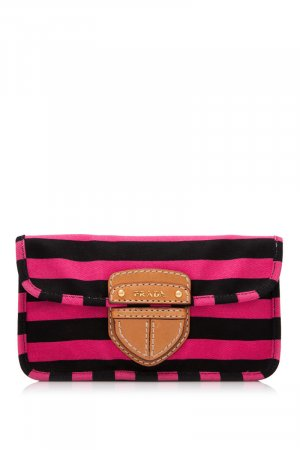 Prada Canapa Righe Pochette Clutch
