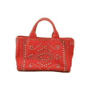 Prada Handbag red textile fiber