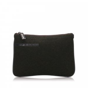 Prada Canvas Clutch Bag
