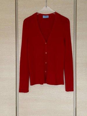 Prada Pullover in cashmere carminio-rosso scuro