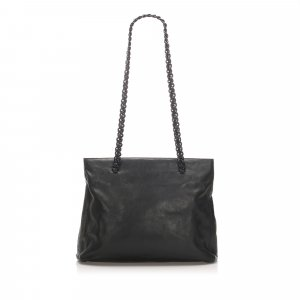 Prada Chain Leather Tote Bag