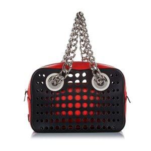 Prada City Fori Perforated Handbag