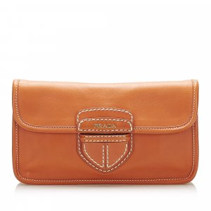 Prada City Leather Clutch Bag