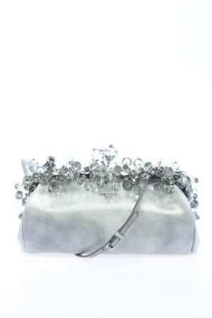 Prada Bolso de mano color plata elegante