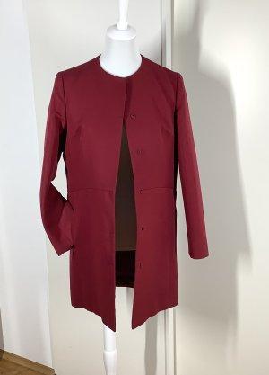 Prada Marynarski płaszcz ciemnoczerwony Wełna