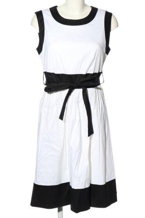Prada Cocktailkleid weiß-schwarz Casual-Look