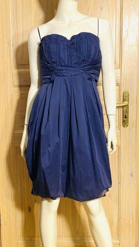 Prada Robe ballon bleu foncé coton