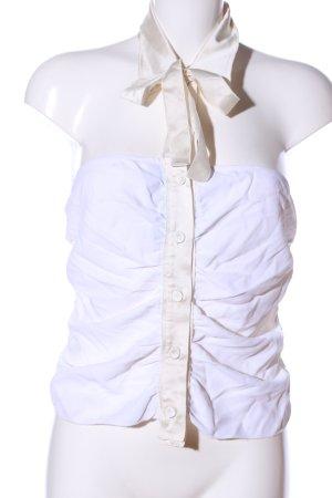 Prada Corpetto bianco-bianco sporco stile festa