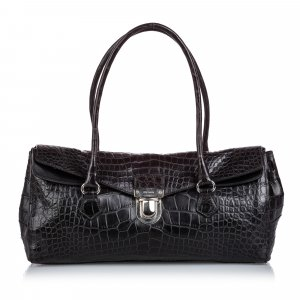 Prada Crocodile Embossed Easy Shoulder Bag