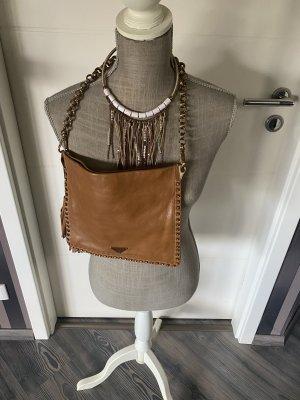 Prada Crossbody Bag Leder braun