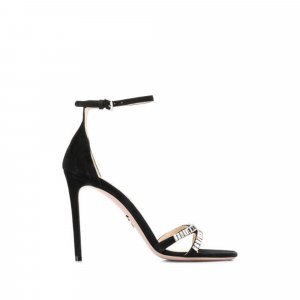 Prada Crystal Embellished Suede Sandals