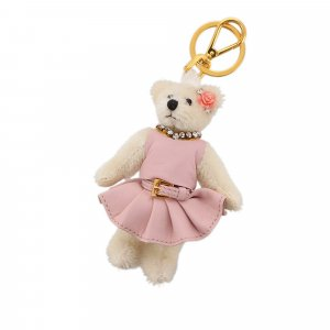 Prada Crystal Trick Teddy Bear Key Chain