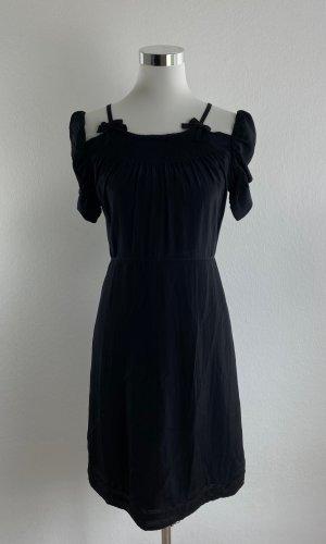 PRADA Damen Kleid Gr. 32 Schwarz Etuikleid Cocktailkleid