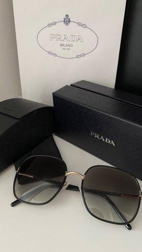 Prada Gafas de sol cuadradas negro-color oro