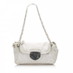 Prada Denim Pattina Shoulder Bag