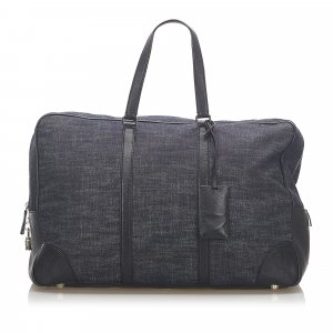Prada Travel Bag black cotton