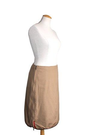 Prada Designer Sport Double Zip A-Linien-Rock Skirt