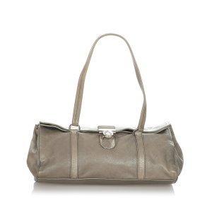 Prada Shoulder Bag green leather