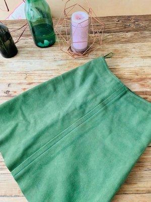 Prada Leren rok lichtgroen-grasgroen Leer