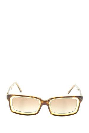 Prada Gafas de sol cuadradas marrón-naranja claro look casual